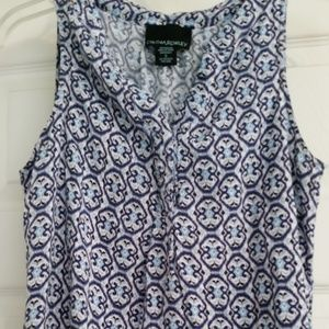 Cynthia Rowley Blue Patterned Sleeveless S